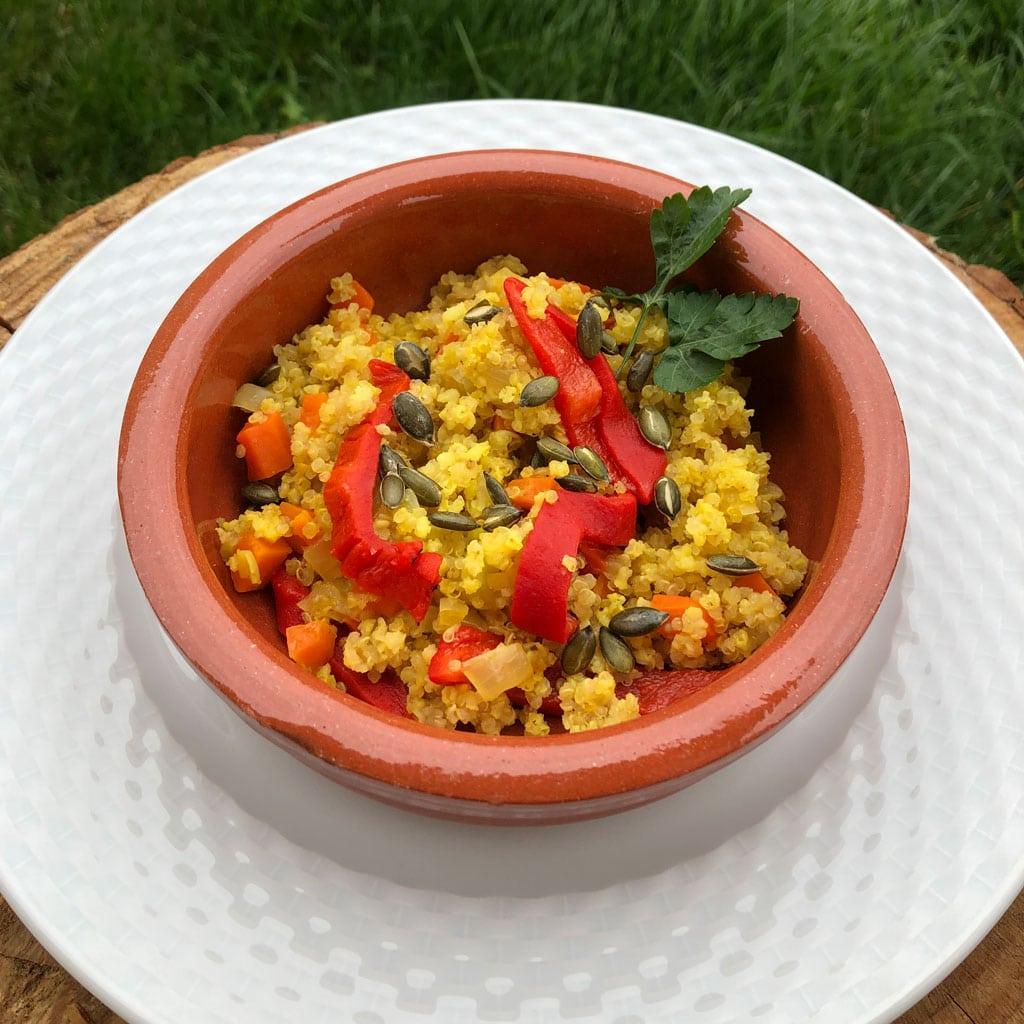 Paella-crujiente-de-quinoa-y-mijo-1