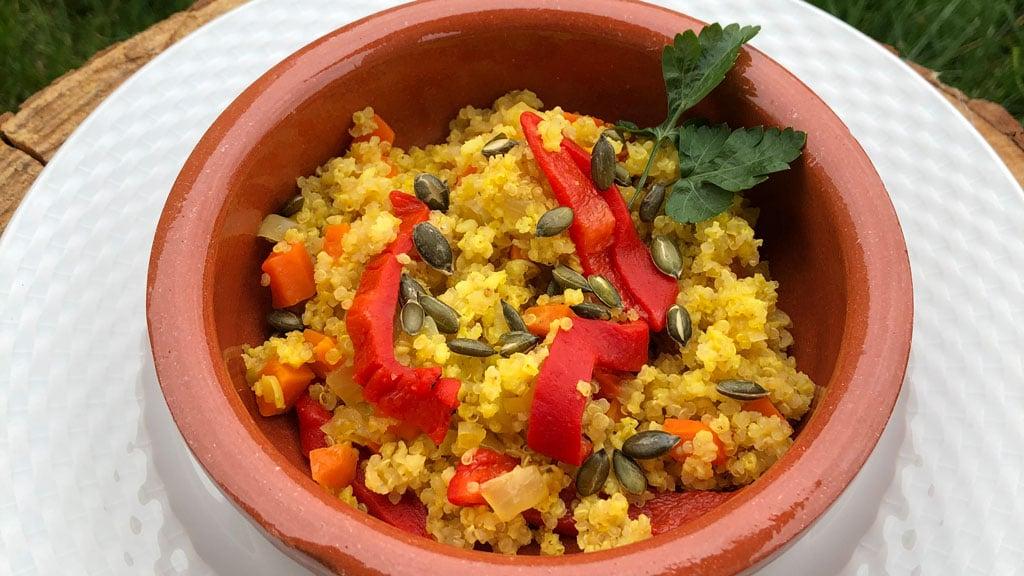 Paella-crujiente-de-quinoa-y-mijo-2